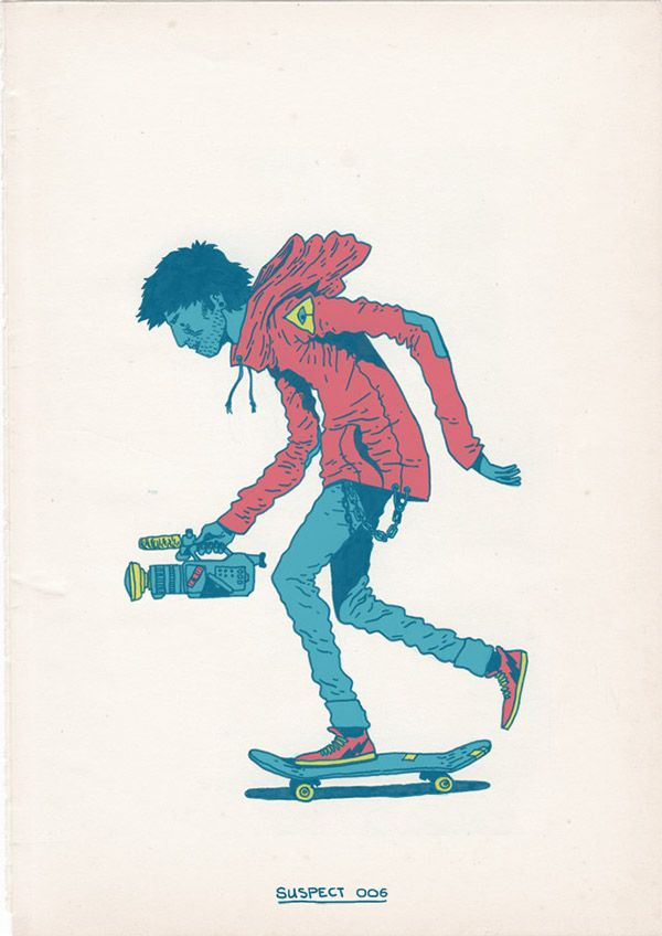 Skateboarding is a crime is a series of twelve illustrations by cape town based artist gerhard human pic and info gerhard human