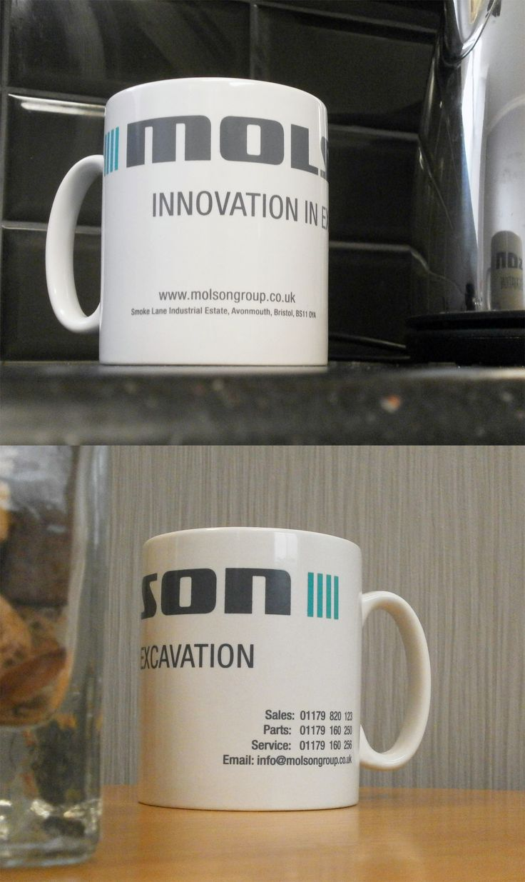 Have a look at these great Molson Group Mugs. All of us here are really Digging these mugs, we hope your promotion goes well! #mugs #promo #excavator