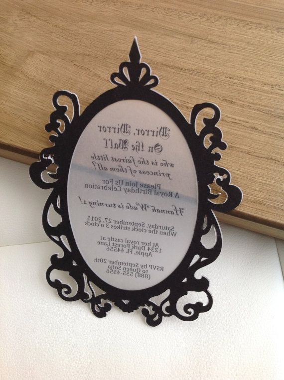 gold mirror invitation set of 8 by thepolkadottedroom on