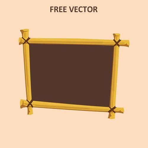 Деревянная рамка вектор скачать