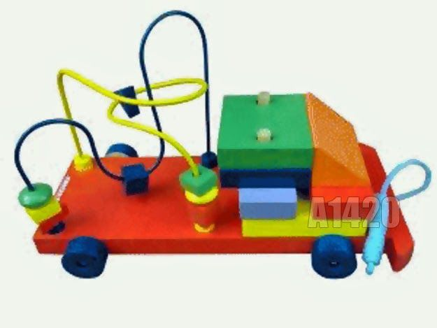 Mainan Edukatif : Mobil-mobilan dadi Balok Kayu – Kode : A1420
