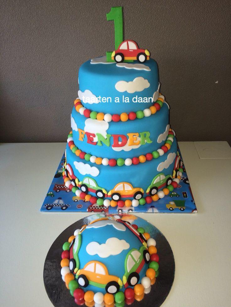 Toet toet vroem taart met auto's Cake with cars