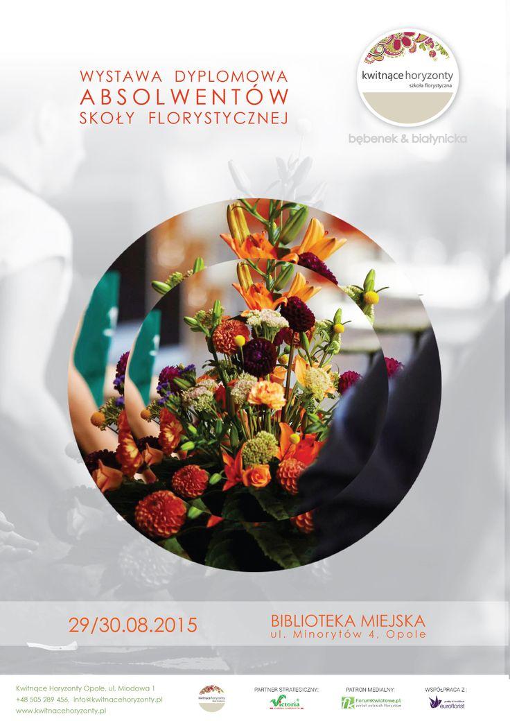 Zapraszamy na kolejną edycję EGZAMINU POZIOMU FLORYSTA w szkole florystycznej Kwitnące Horyzonty. Zapraszamy do Biblioteki Miejskiej w Opolu :-)