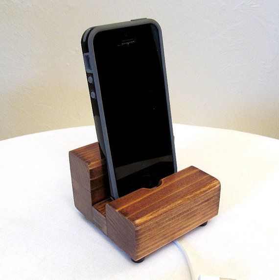 Iphone dock, redwood cell phone stand, charging stand, iphone stand, samsung dock, iphone 6 charger, wood charging dock, universal