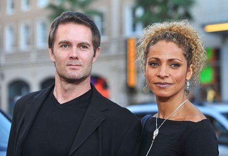 Garret Dillahunt from Raising Hope and his wife Michelle Hurd    #bwwm #wmbw