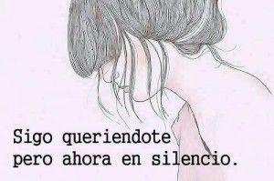 Pero ahora en silencio*