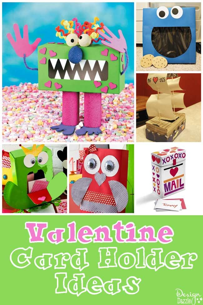 Valentine Card Holder Ideas to make and craft with your kids - Design Dazzle