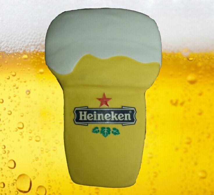 Heineke bierglas taart