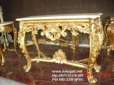 Meja konsul ukiran jati jepara design console table classic eropa supplier furniture classic indonesia