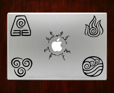 Avatar Elements Emblem Decal Sticker For Macbook Pro Air Retina 11 / 13 / 15 / 17 inch Macbook Laptop 1. Easy application in minutes.2. High resolution, full detail precision cut.3. Decals are cut on