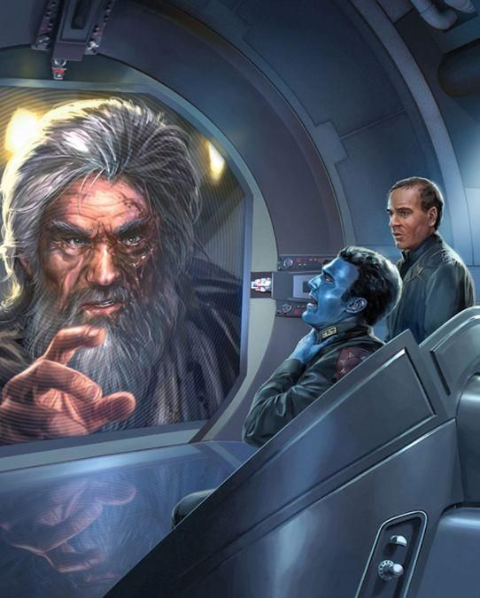 In the Novel 'Outbound Flight' you read about the Real Jorus C'Baoth Force Choking Thrawn as the Outbound Flight is being Destroyed, luckily C'Baoth was Killed and Thrawn lived on.