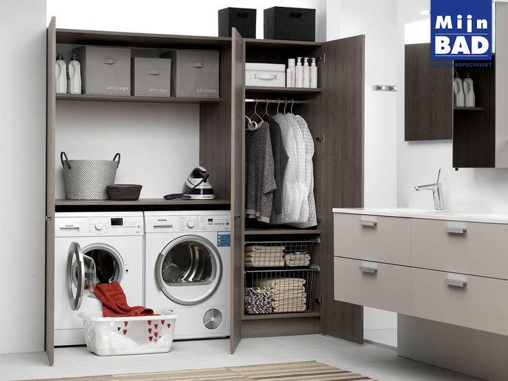 Ondanks dat we maandelijks toch wat uurtjes bezig zijn met wassen draaien is de wasruimte toch vaak wat rommelig qua indeling. Onze sanitairspecialisten helpen je graag met het ontwerpen en indelen van je wasruimte.