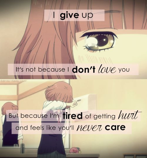 Anime : Ao Haru Ride || I give up. It's Not because i don't love you, but…