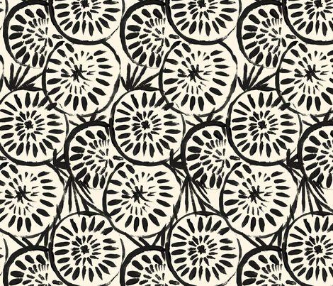Medallions Black Cream fabric by crystal_walen on Spoonflower - custom fabric