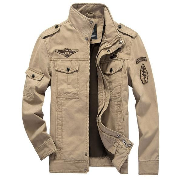 HOT Men Bomber Military Jacket Camouflage Security Army Work Outwear Coat Zipper