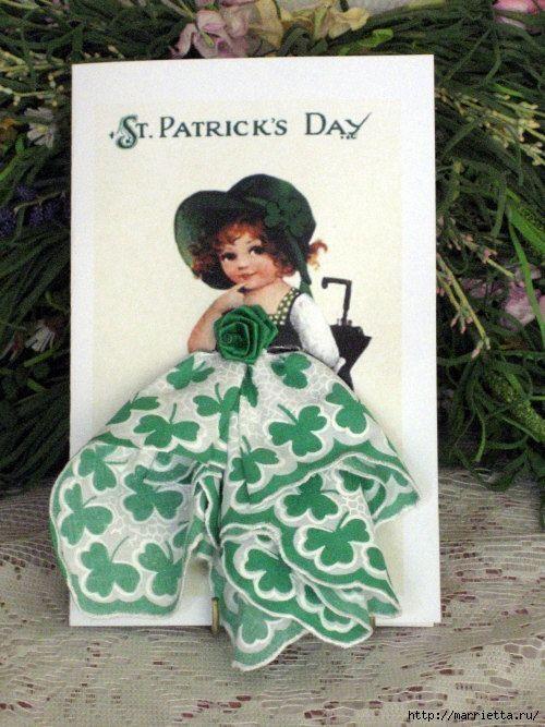 Доброго, винтажные открытки с дамами из носовых платков