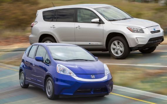 Cool Toyota Rav4 2017: 2013 Honda Fit EV vs. 2012 Toyota RAV4 EV Comparison - Motor Trend... Check more at http://24auto.tk/toyota/toyota-rav4-2017-2013-honda-fit-ev-vs-2012-toyota-rav4-ev-comparison-motor-trend/