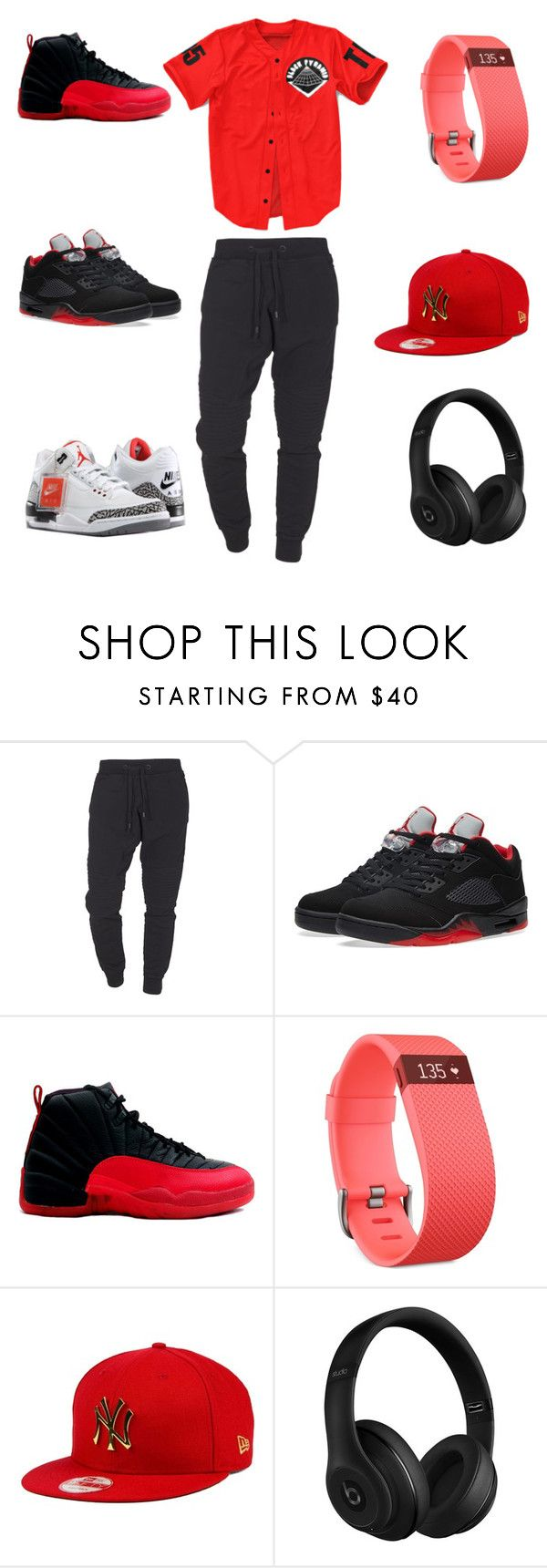 """dope"" by aleisharodriguez ❤ liked on Polyvore featuring TIGHA, NIKE, Retrò, Fitbit, New Era, Beats by Dr. Dre, men's fashion and menswear"