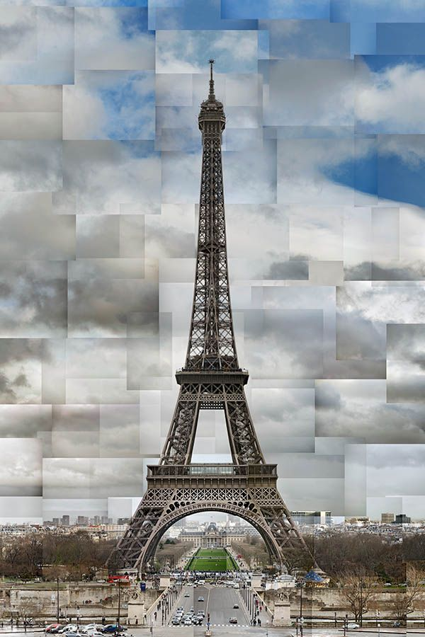 La Tour Eiffel (© Pep Ventosa). His images contain several hundred separate photographs. Shot in fragments, the puzzle pieces were reconstructed one by one and reworked to create a unique narrative that never happened. Part memory, part imagination.