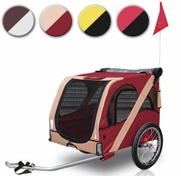 leopet® Hundeanhänger. Die ideale Transportmöglichkeit für Deinen Liebling auf langen Strecken | Dog bike trailer, never ever part again!