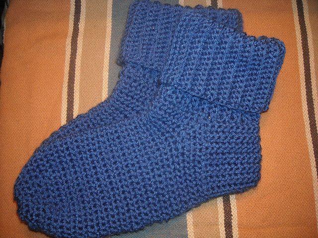 Free And Easy Crochet Patterns For Socks : Crocheted Socks For Men By Sue Norrad - Free Crochet ...