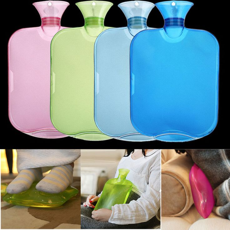 2000ml PVC Rubber Hot Water Bottle Warm Relax Pain Sports Injuries Relief Heat Cold Therapy Bag