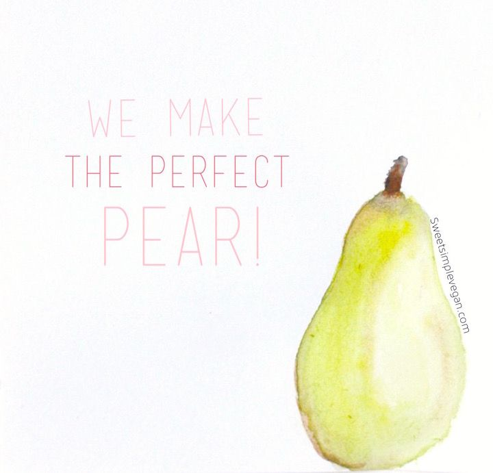 We Make The Perfect Pear -- DIY Handmade Vegan Valentine's Day Cards (Downloadable)