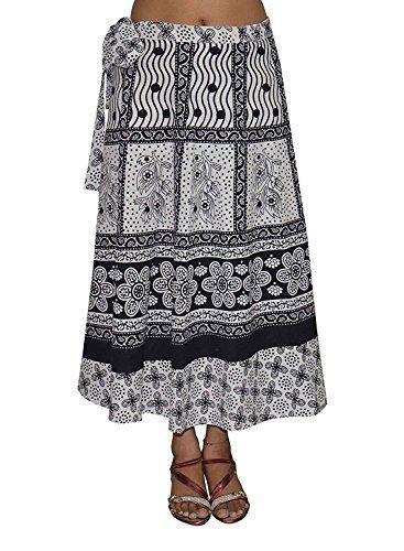 ede653e7241b5d Indian Handicrfats Export Wraparound Mid Calf Length Women's Skirt ...