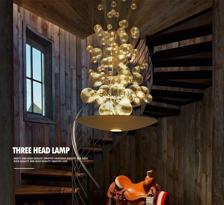 Постмодерн светодиодный шар пузырь стекло люстра ресторан кафе одежды творческой моды личности Art -tmall.com Lynx