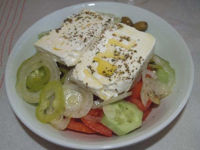 8 Cool Greek Salads for Warm Weather: Classic Greek Country Salad - Horiatiki Salata