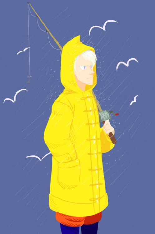 Sour Cream making a sour face in his lil raincoat :)Prompt: Sour Cream!