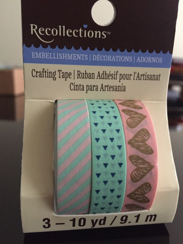 Recollections Mint & Pink Washi tape, 3 full rolls by StationeryGirl604 on Etsy https://www.etsy.com/ca/listing/290198515/recollections-mint-pink-washi-tape-3