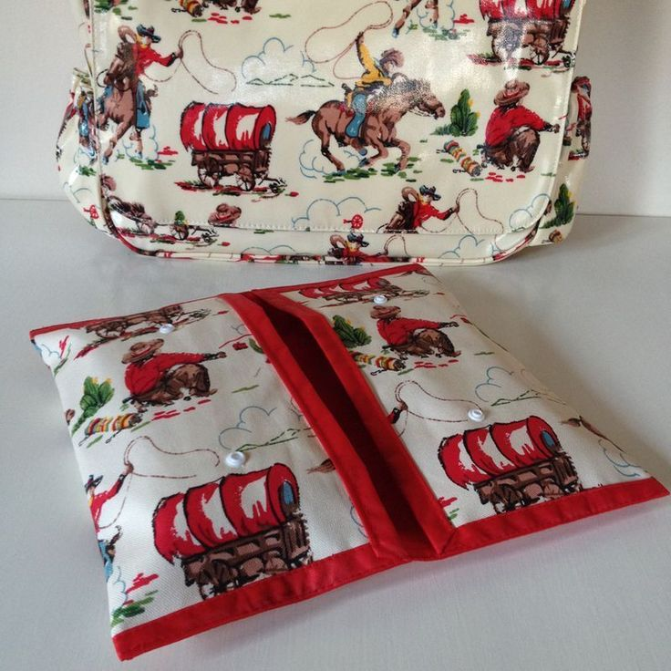 CATH KIDSTON COWBOY WET WIPES NAPPY HOLDER WALLET CHANGING BAG CASE