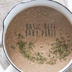 Basic Beef Baby Puree