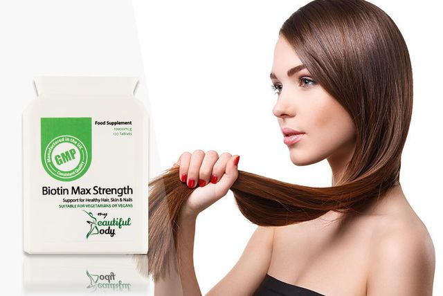 120 Super-Strength Biotin Hair Growth Capsules