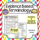 Evidence Based Terminology (to use when citing text evidence)