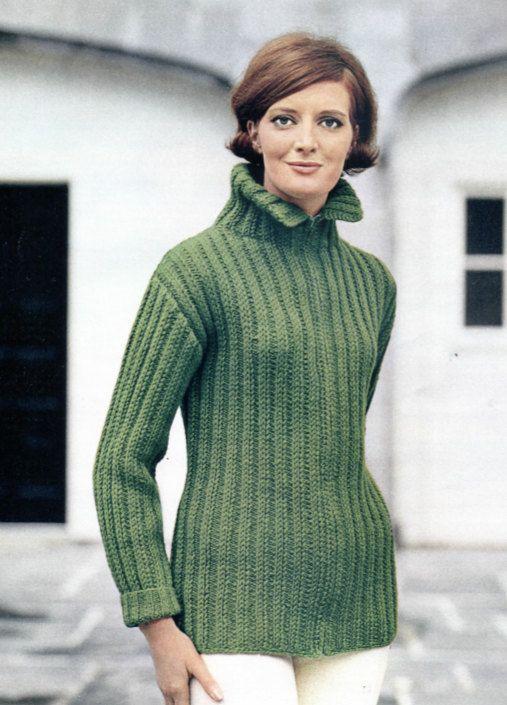 Apres Ski Knit Sweater Jacket Pattern