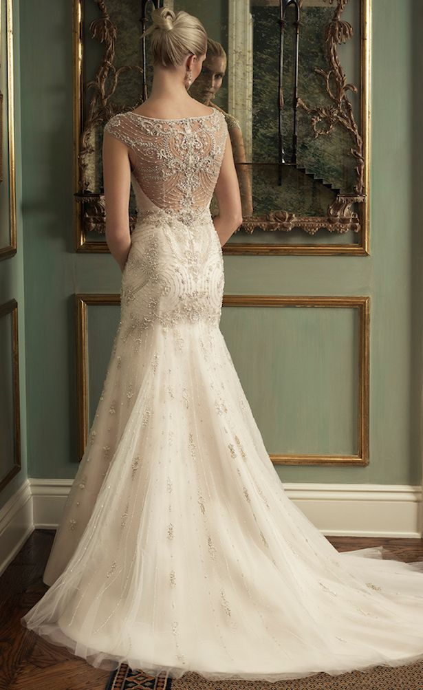 #Wedding Dress by Casablanca Bridal 2016 #Stunning art deco inspired embellished gown. #1920s