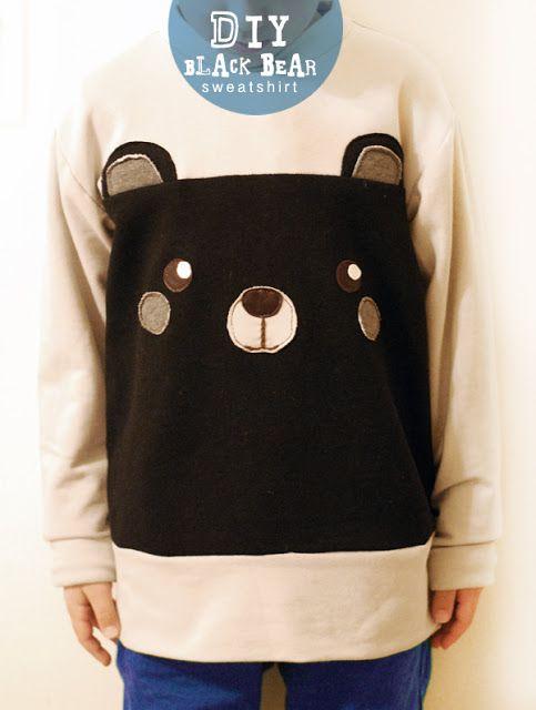 DIY: Easy Black Bear Sweatshirt