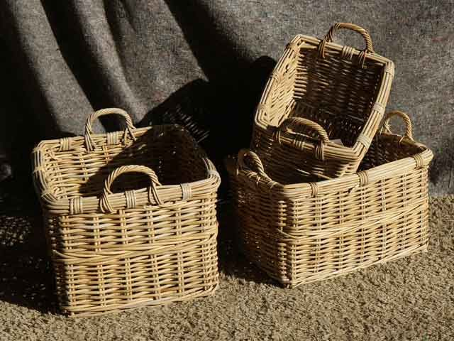 Estrella Rectangular Baskets With Handles #basket #wickerbasket #storage #linen