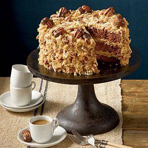 Mama's German Chocolate Cake | MyRecipes.com: Desserts, Mama German, Pecans Recipes, Food, German Chocolate Cakes, Chocolates Cakes Recipes, Must Tried Recipes, Cake Recipes, German Chocolates Cakes