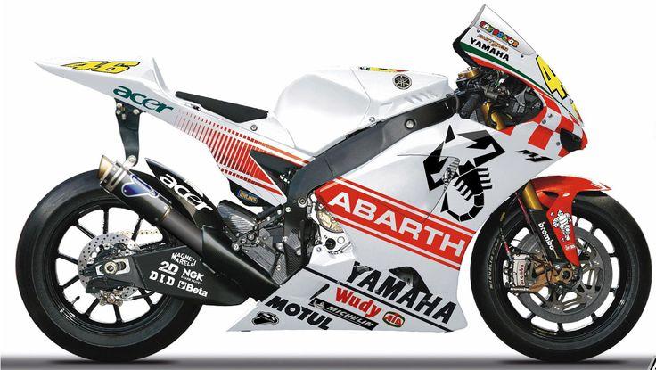 Yamaha YZR-M1 aux couleurs d'Abarth - Gp Australie - Moto GP - Rossi