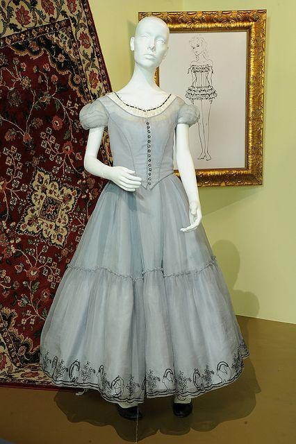 The blue frock worn by Mia Wasikowska as Alice Kingsley in Tim Burton's Alice in Wonderland.