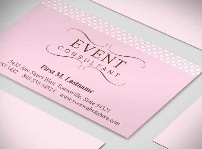 Wedding planner business cards event coordinator for Party planner business cards