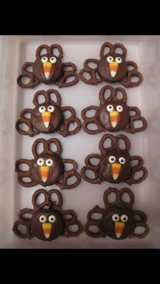 Chocolate turkey cookies