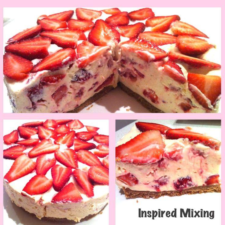 Recipe No Bake Strawberry Cheesecake by shelleyjkemp - Recipe of category Desserts & sweets
