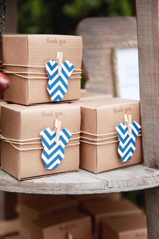 """Ahoy It's a Boy"" Nautical Themed Baby Shower Party Favors"