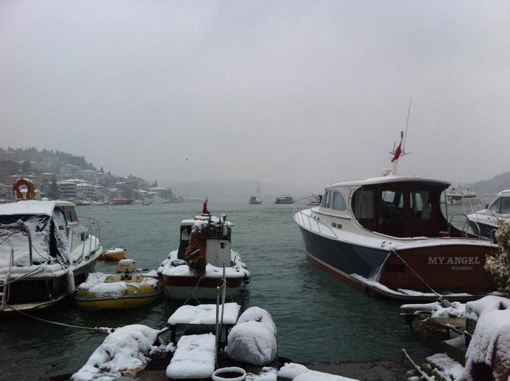 Ortakoy in the snow