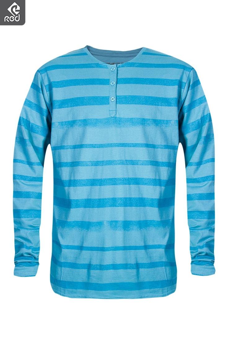 Mens Stripe Grandpa T-shirt | Winter Coasting