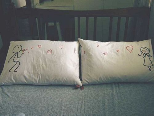 :): Kiss, Wedding Shower, Gifts Ideas, Mornings Coff, Embroidery Projects, Pillows Talk, Military Families, Diy Pillows, Wedding Gifts